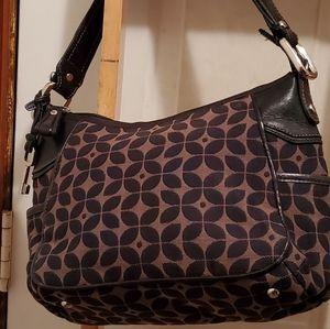 30% off🎉 Fossil canvas black & beige satchel bag